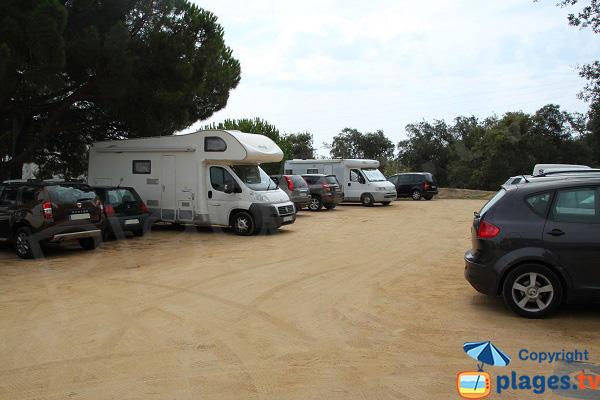 Parking de la plage de Calella de Palafrugell