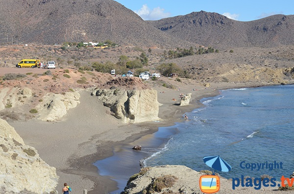 Plage de Penon Blanco à Isleta del Moro - Espagne - Andalousie