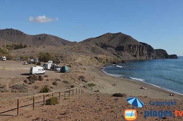 Photo de la plage de Penon Blanco à Isleta del Moro - Espagne