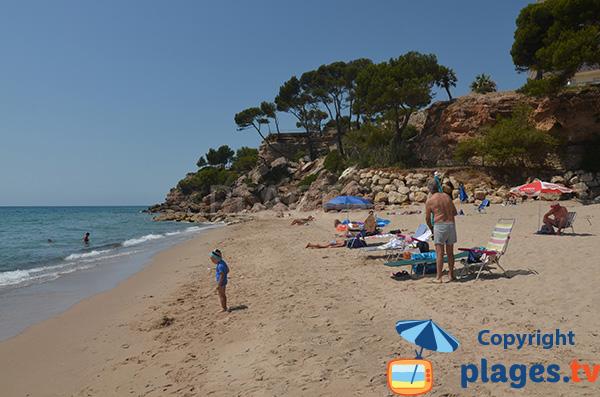 Extrémité de la plage de Penyals à Miami Platja - Espagne