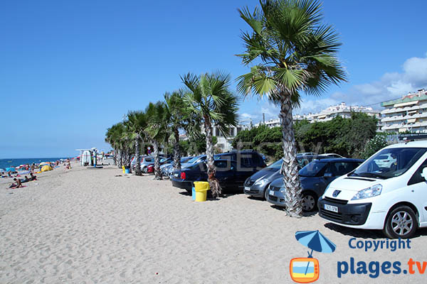 Parking de la plage de Pineda de Mar