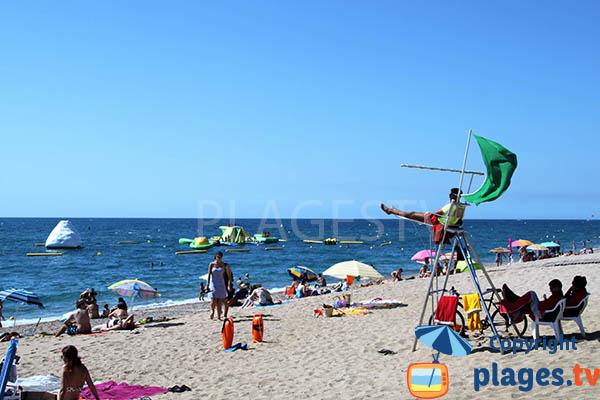 Photo de la plage de Pineda de Mar en Espagne