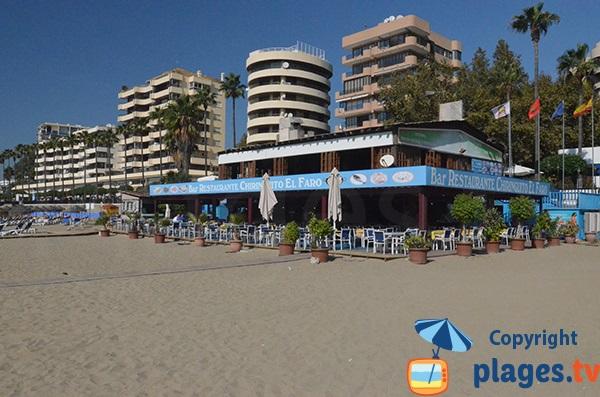 Restaurant El Faro sur la plage de Marbella