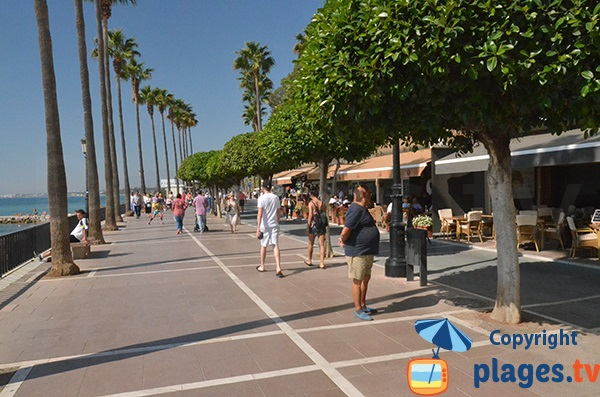 Promenade piétonne le long de la plage El Faro de Marbella