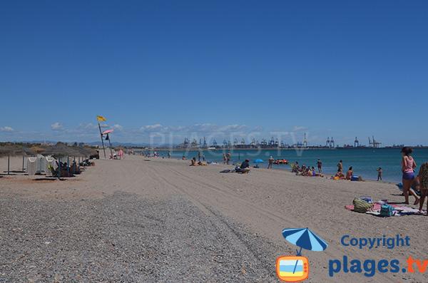 Galets sur la plage de Pinedo Sud - Valence