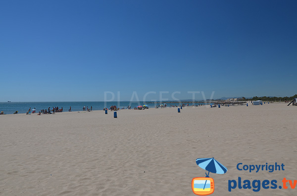 Grande plage au sud de Valence