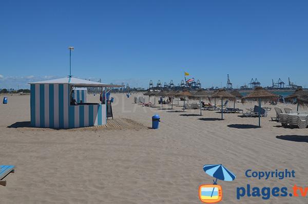 Location de matelas sur la plage de Pinedo - Valence
