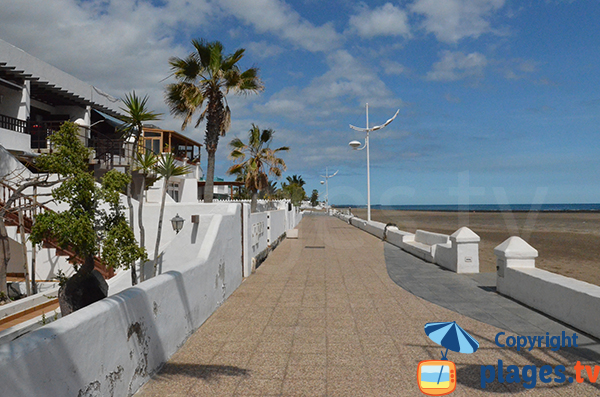 Promenade en front de mer de Playa Honda