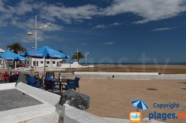 Restaurant sur le bord de mer de Playa Honda