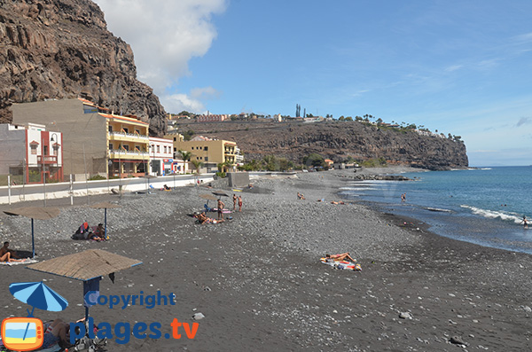 Playa de Santiago - le front de mer - plage de galets