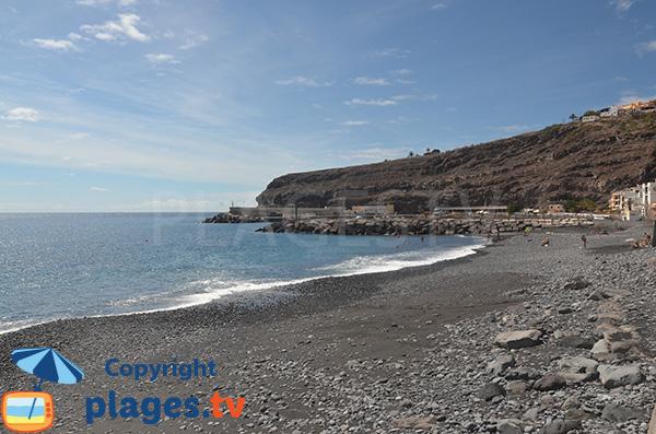 Grande plage de Santiago à La Gomera