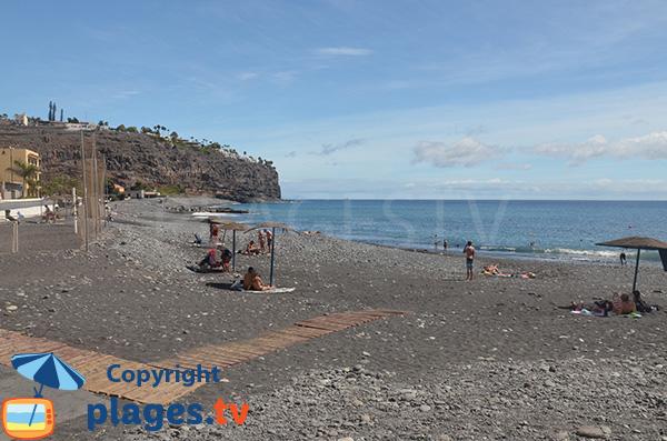 Plage surveillée à Playa Santiago - La Gomera