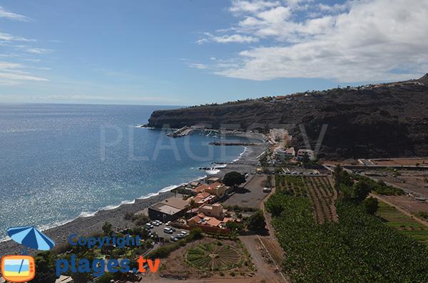 Vue générale de Playa de Santiago - La Gomera