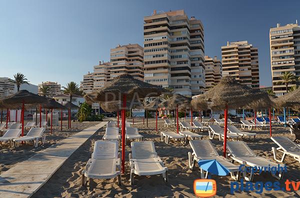 Location de matelas sur la plage de Torremolinos