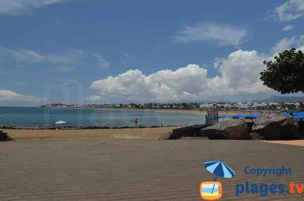 Beach of Los Pocillos in Lanzarote - Iles Canaries
