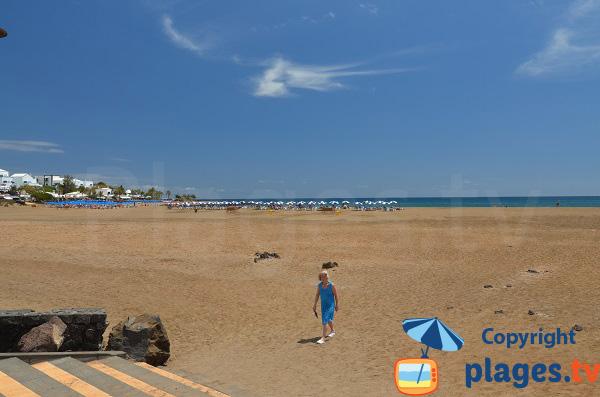 Photo de la plage de los Pocillos à Puerto del Carmen - Lanzarote