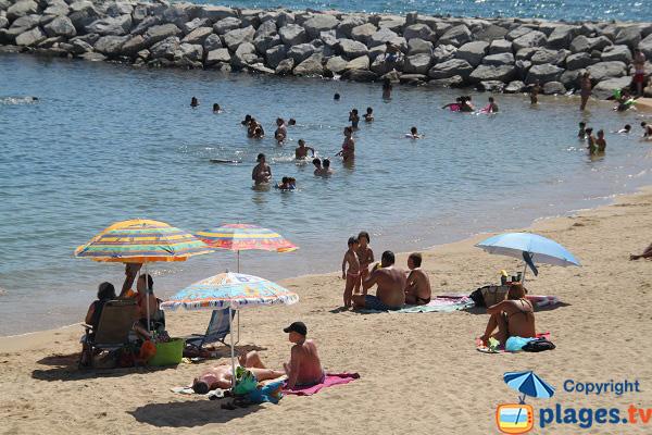Calm beach in Mataro