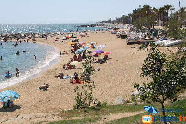 Photo of Ponent beach in Mataro - Spain