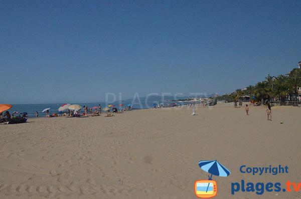 Photo de la plage du Ponent à Salou en Espagne