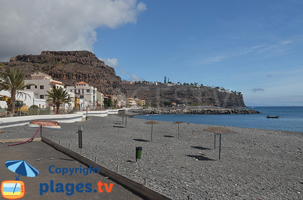 Photo de la plage du Port de Playa Santiago - La Gomera