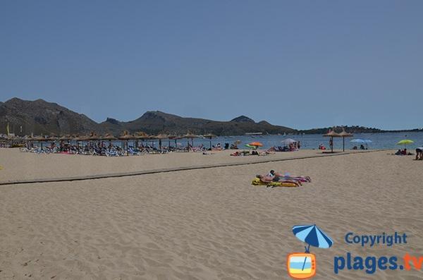 Accès handicapé sur la plage de Port Pollença - Majorque