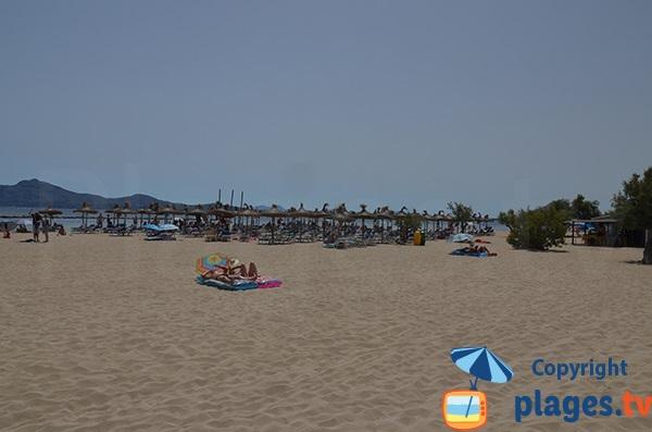 Plage privée sur la plage de Port de Pollença - Espagne