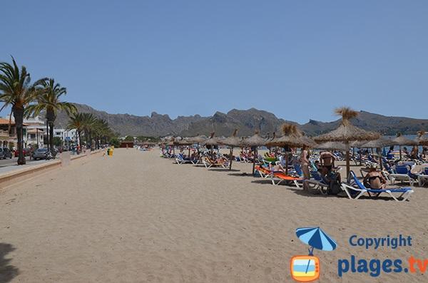 Photo de la plage de Port Pollença à Majorque - Iles Baléares