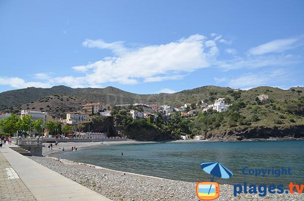Grande plage de Portbou - Espagne