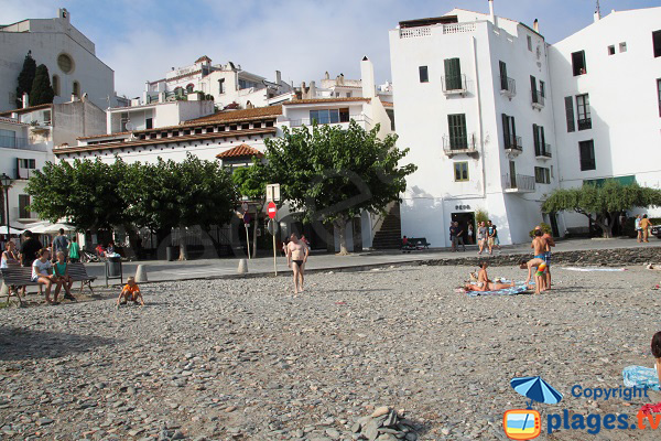 Sand and stones beach in Cadaques