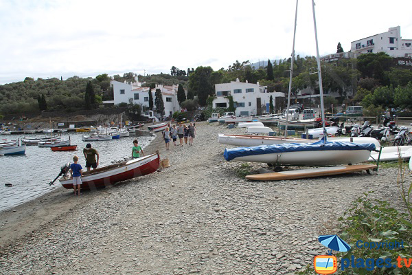 Portlligat beach in Cadaques and Dali home - Spain