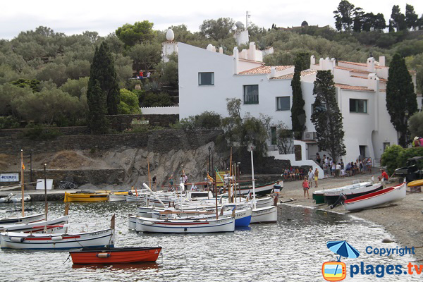 House of Dali next to the beach of Cadaques - Portlligat