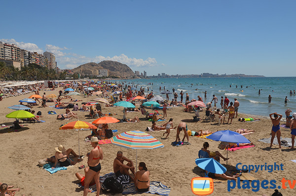 Plage dans le centre-ville d'Alicante