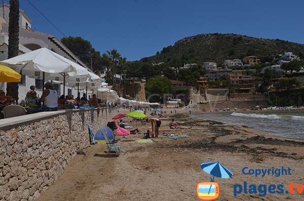 Plage et restaurants - El Portet - Moraira