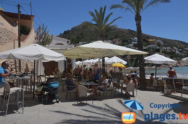 Restaurant sur la plage Portet de Moraira