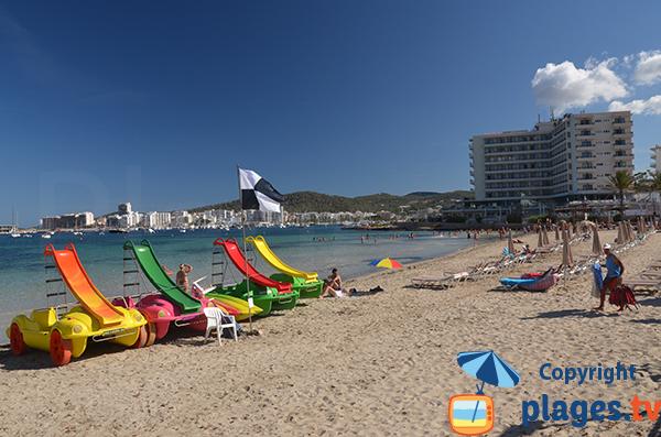 Photo de la plage des Pouet à Sant Antoni de Portmany - Ibiza