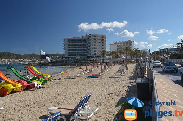 Beach at the exit of Sant Antoni de Portmany