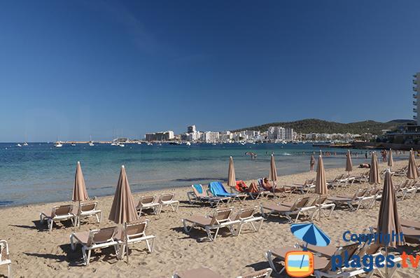 View on Sant Antoni de Portmany from the beach