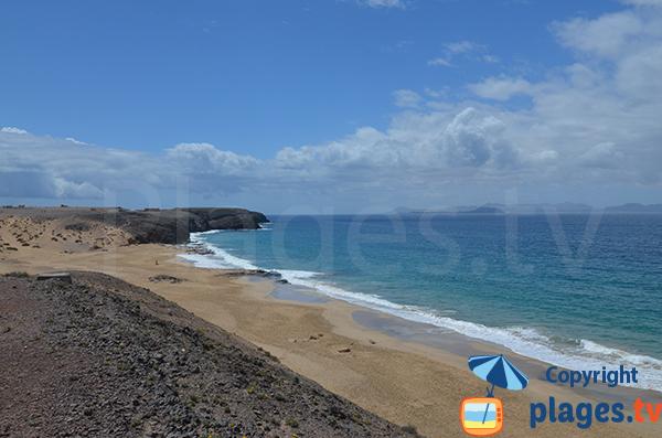 Plage de Pozo à Playa-Blanca - Lanzarote
