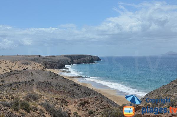 Photo de la plage de Pozo à Lanzarote - Playa-Blanca