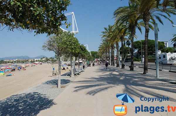 Promenade en bord de mer à Cambrils - Espagne