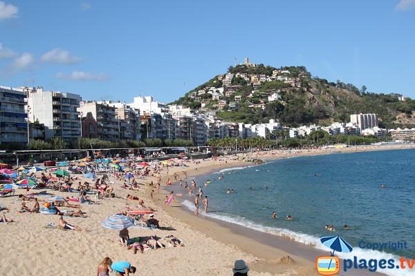 Plage de Blanes en Espagne