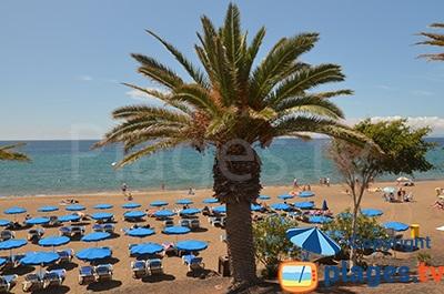 Beach in Puerto del Carmen in Lanzarote