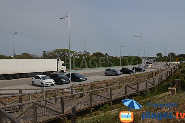Parking de la plage de Punta Candor - Rota