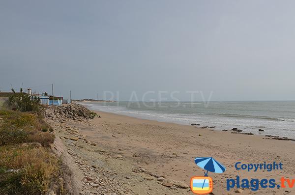 Zone de la plage de Punta Candor avec des rochers - Rota