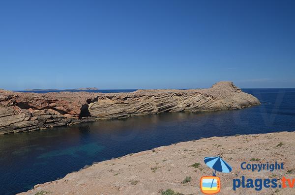 Rock formation of Punta Galera - Ibiza