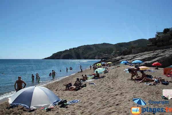 Partie sud de la plage de Raco à Begur