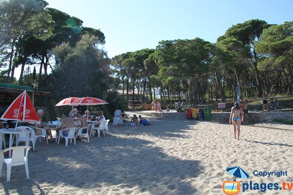 guinguette sur la plage de l'Escala - Costa Brava