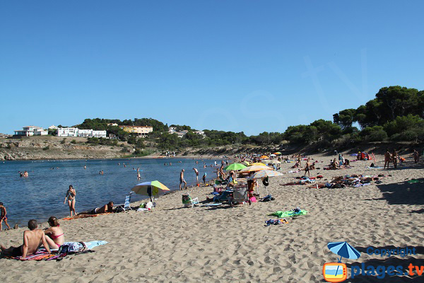 Photo de la plage de Rec del Moli à l'Escala - Espagne