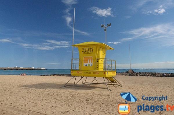 Poste de secours de la plage d'Arrecife