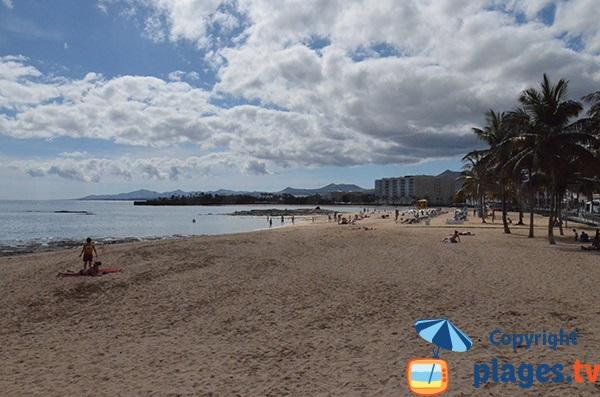 Grande plage d'Arrecife - Lanzarote